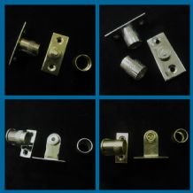 Curtain rod sockets - Brackets for 9 mm diameter rods tube in Chrome and brass